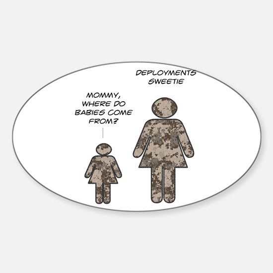 Where do babies come from? (c Oval Decal