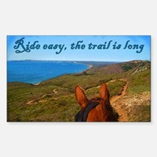 Ride easy trail horse Rectangle Decal