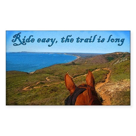 Ride easy trail horse Rectangle Sticker