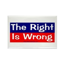 right is wrong Rectangle Magnet