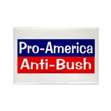 pro-america anti-bush Rectangle Magnet