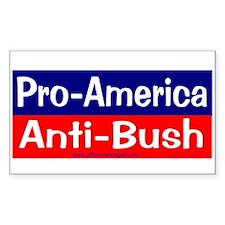 pro-america anti-bush Rectangle Decal