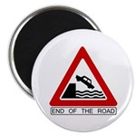 """End of the Road sign - 2.25"""" Magnet (10 pack)"""