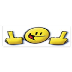 Smiley Fingers Bumper Bumper Sticker