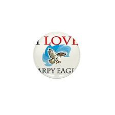 I Love Harpy Eagles Mini Button