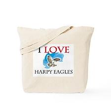 I Love Harpy Eagles Tote Bag