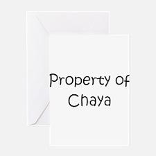 Unique Chaya Greeting Card