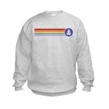 Retro Yoga Rainbow Sweatshirt