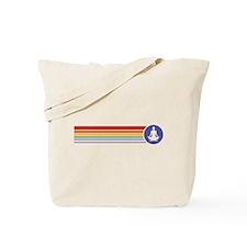 Retro Yoga Rainbow Tote Bag