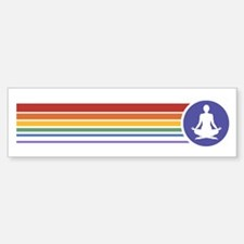 Retro Yoga Rainbow Bumper Bumper Bumper Sticker