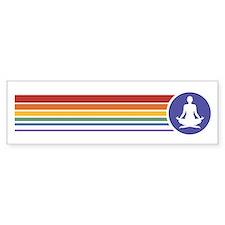 Retro Yoga Rainbow Bumper Car Sticker