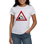Cliff Warning Sign Women's T-Shirt