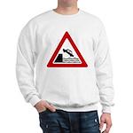Cliff Warning Sign Sweatshirt