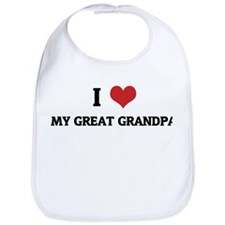 I Love My Great Grandpa Bib