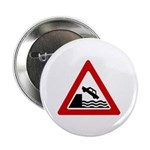 """Cliff Warning sign - 2.25"""" Button (100 pack)"""