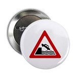 Cliff Warning sign - Button