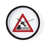 Cliff Warning sign - Wall Clock