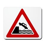 Cliff Warning sign - Mousepad