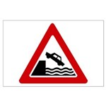 Cliff Warning sign - Large Poster