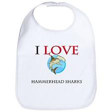 I Love Hammerhead Sharks Bib