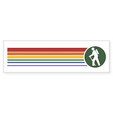 Retro Hiking Bumper Bumper Sticker