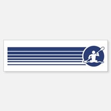 Retro Kayaking Bumper Bumper Bumper Sticker