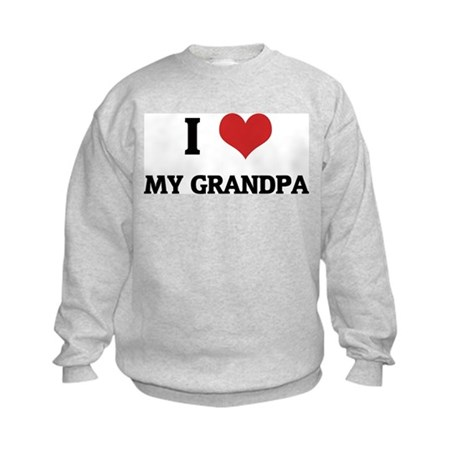 I Love My Grandpa Kids Sweatshirt