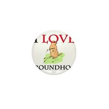 I Love Groundhogs Mini Button (10 pack)