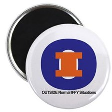 """Outside Iffy"" magnet"