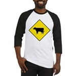 Cattle Crossing Sign Baseball Jersey