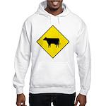Cattle Crossing Sign Hooded Sweatshirt