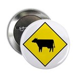 """Cattle Crossing Sign - 2.25"""" Button (10 pack)"""