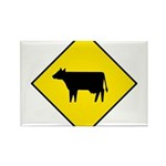 Cattle Crossing Sign - Rectangle Magnet (100 pack)