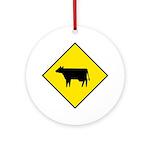 Cattle Crossing Sign - Keepsake (Round)