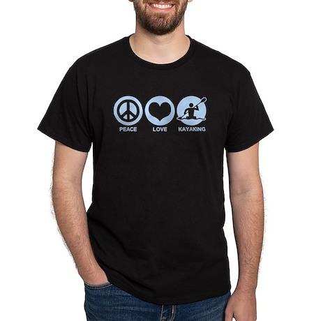 Peace Love Kayaking Dark T-Shirt