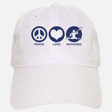 Peace Love Kayaking Baseball Baseball Cap