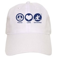 Peace Love Kayaking Baseball Cap