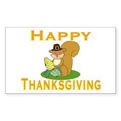Thanksgiving Chipmunk Rectangle Sticker 10 pk)