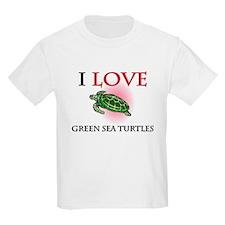 I Love Green Sea Turtles T-Shirt
