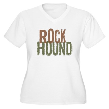 Rock Hound (Distressed) Women's Plus Size V-Neck T