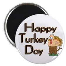"Happy Turkey Day 2.25"" Magnet (100 pack)"