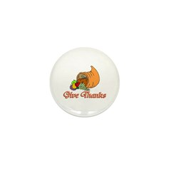 Give Thanks Mini Button (10 pack)