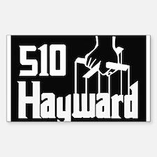 510 Hayward,Ca -- T-Shirt Sticker (Rectangle)