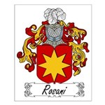 Rosani Family Crest Small Poster