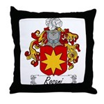 Rosani Family Crest Throw Pillow