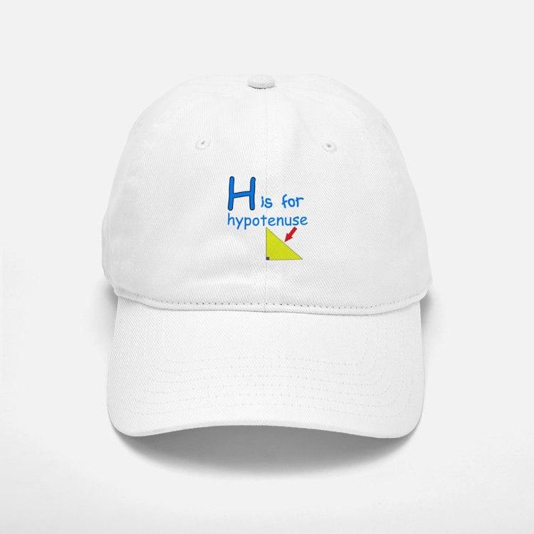 H is for Hypotenuse Baseball Baseball Cap