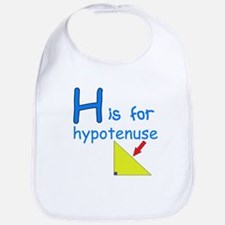 H is for Hypotenuse Bib