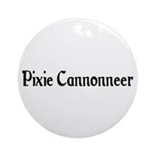 Pixie Cannonneer Ornament (Round)