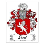 Rossi Family Crest Small Poster