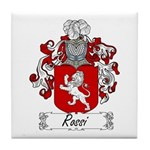 Rossi Family Crest Tile Coaster